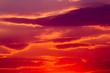 Leinwandbild Motiv colorful dramatic sky with cloud at sunset