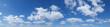 canvas print picture - Blauer Himmel mit Schäfchenwolken
