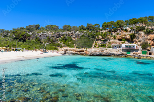 Poster Tropical plage Cala Llombards - beautiful beach in bay of Mallorca, Spain