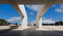 View Of The Sanctuary Of Our Lady Of Fátima From The Entrance Of The Basilica Of The Holy Trinity, Fatima, Portugal