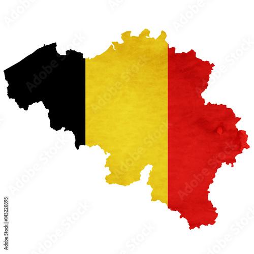 Photo ベルギー 地図  国旗 アイコン