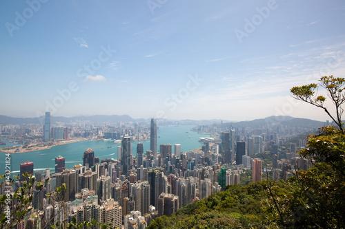 Plakat Perspektywy Hongkongu City of Victoria Peak