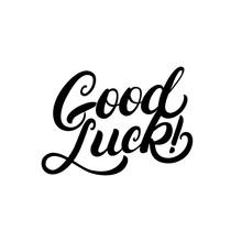 Good Luck Hand Written Letteri...