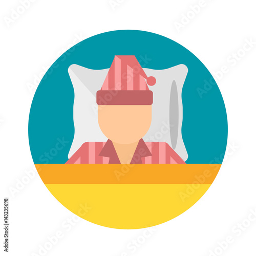Sleep Time Pajamas Moon Icon Vector Illustration Bed Sign Symbol