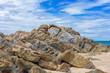 Beautiful rocks on beach