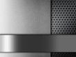 Gray chrome metallic mesh. metal background and texture