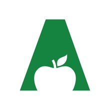 Letter A And Apple Logo Vector.