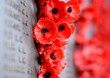 canvas print picture - Canberra, Australia - March 18, 2017. Poppy wall lists the names of all the Australians who died in service of armies. The red poppy has become a symbol of war remembrance (ANZAC Day) the world over.