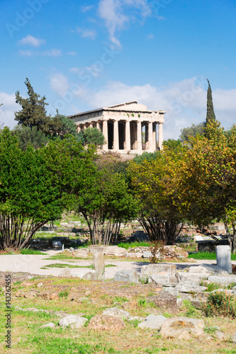 Photo  Temple of Hephaestus and Ancient Agora of Athens, Greece