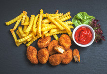 Chicken Nuggets With French Fr...