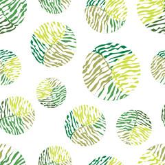 Fototapeta Polka dot green vector seamless pattern.
