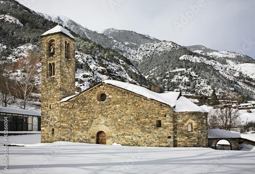 Photo Sant Marti de la Cortinada Romanesque church in la Cortinada