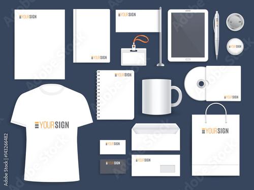 Fotografía Corporate identity template for business company