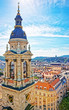 City center and St Stephen Basilica in Budapest