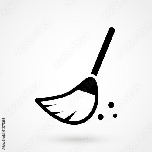 Photo broom icon vector
