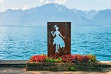 Figure Of Woman At Geneva Lake...