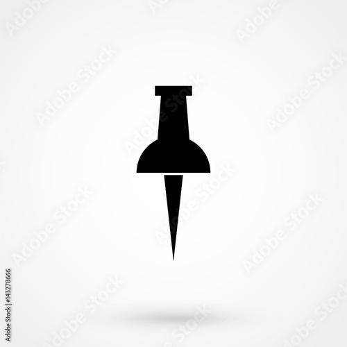 Fotografie, Obraz  Pin icon in flat style