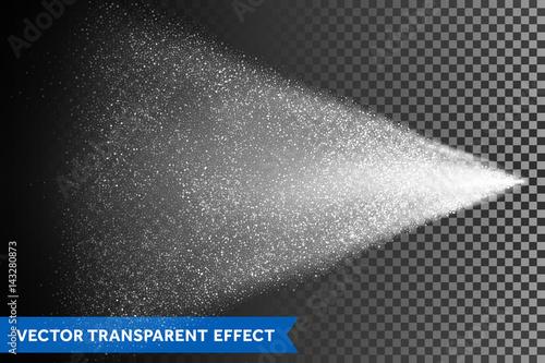 Photo Water spray mist of atomizer. Vector light dispersion effect