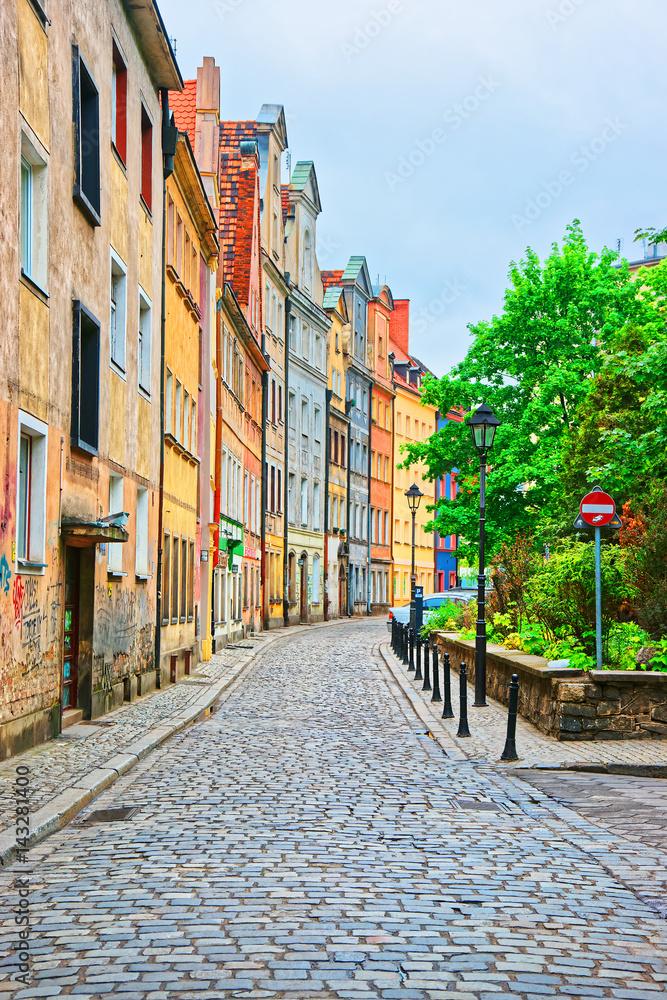 Fototapety, obrazy: Ulica na Starym Mieście we Wrocławiu