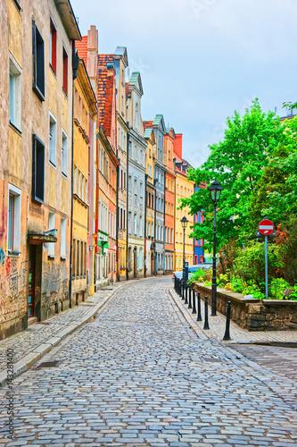 Obraz Ulica na Starym Mieście we Wrocławiu - fototapety do salonu