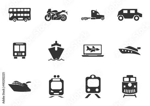 Fotografie, Tablou  Typse of transport icon set