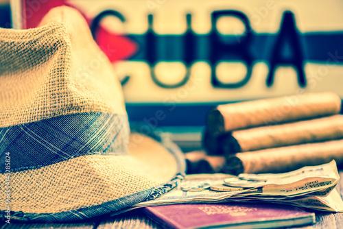 travel to Cuba concept Fototapeta
