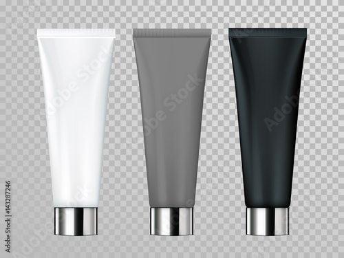 Photographie Cream or lotion tube isolated vector skin care cosmetic package template