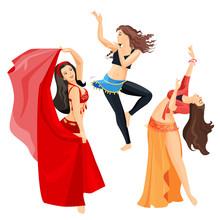 Belly Dancers Set Of Girls Iso...