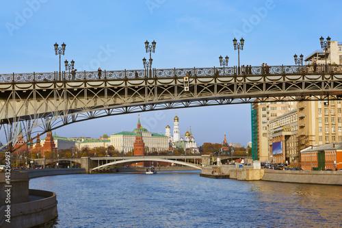 Spoed Foto op Canvas Moskou Kremlin on sunset in Moscow Russia