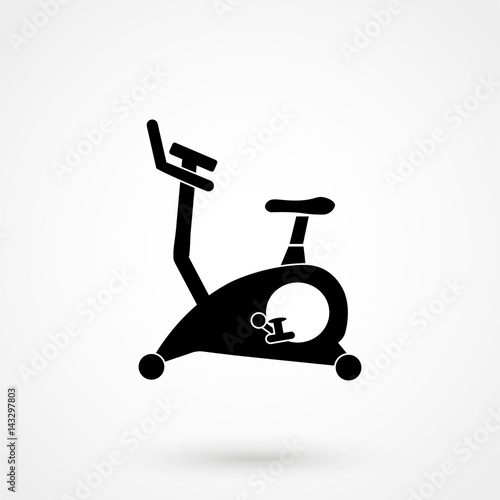 Gym exercise equipment room interior indoor set linear stroke