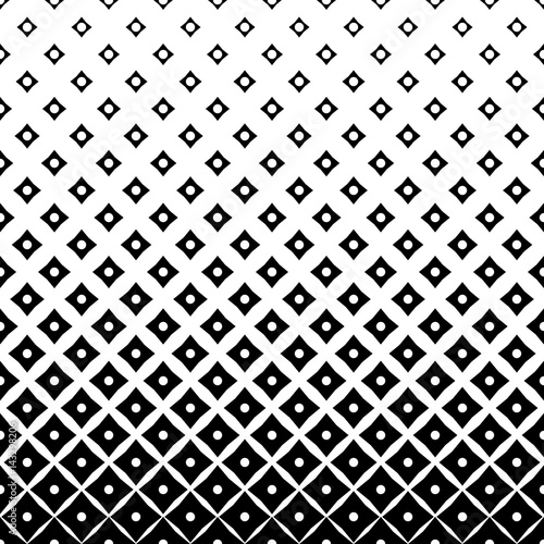 Seamless Square and Circle Pattern. Abstract Black and White Background