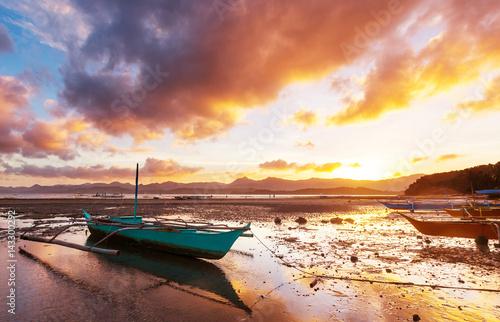 Poster Zee / Oceaan Boat in Philippines