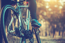 Cyclist Riding Mountain Bike I...
