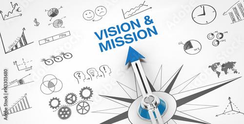 Fotografia, Obraz  Vision & Mission / Compass
