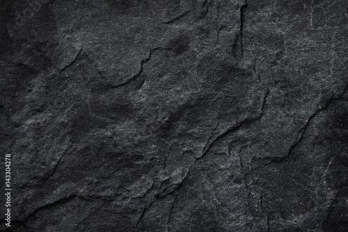 Fototapeta Dark grey black slate background or texture. obraz