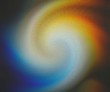 canvas print picture - The bright solar spectrum on the wall is curved into an elegant spiral