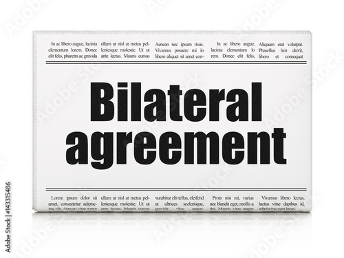 Insurance Concept Newspaper Headline Bilateral Agreement Buy This