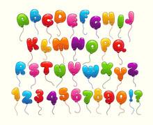 Funny Balloon Alphabet.
