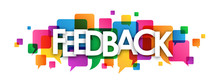 Multicoloured FEEDBACK Icon With Speech Bubbles
