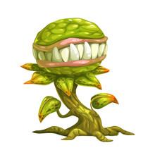 Monster Plant Illustration.
