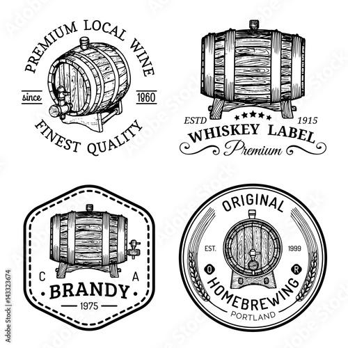 Stampa su Tela Alcohol logos