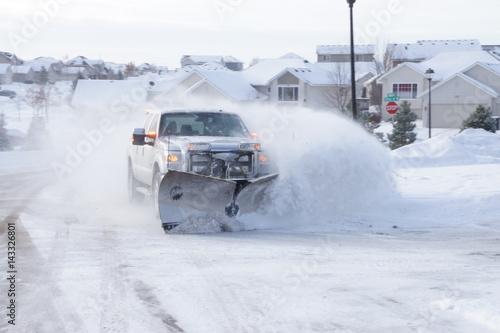 Photo Snow Plow Truck