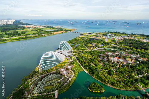 Photo  Aerial view of the FlowerDome and cloud forest