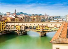 Ponte Vecchio Sur L'Arno à Florence, Toscane, Italie