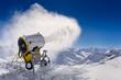 canvas print picture - Schneekanone in den Alpen, Skigebiet Soelden