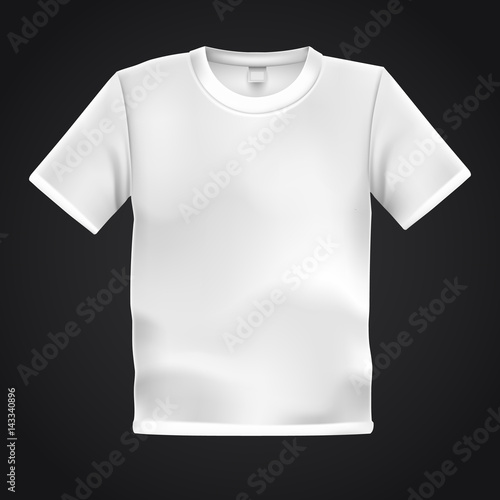 white t shirt template isolated on black background blank t shirt
