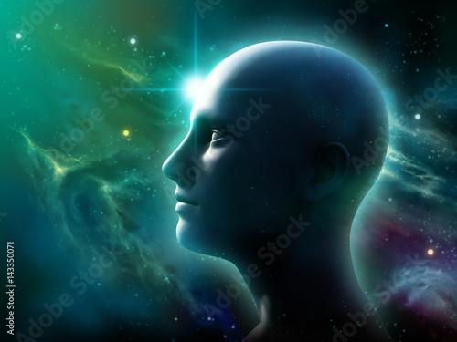 Obraz Human head in space - fototapety do salonu