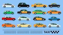 Taxi Cab Icons Set Poster Or Banner,China, UK, USA, Korea, Australia, Brasil, Spain, Russia, Egypt, India, Hong Kong, Mexico, Japan, Germany, Berlin, Tokio, London, Moscow, Cairo, Melbourne, Delhi