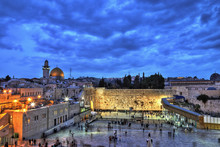 Western Wall, Dome Of The Rock And Temple Mount. Jerusalem, Israel.