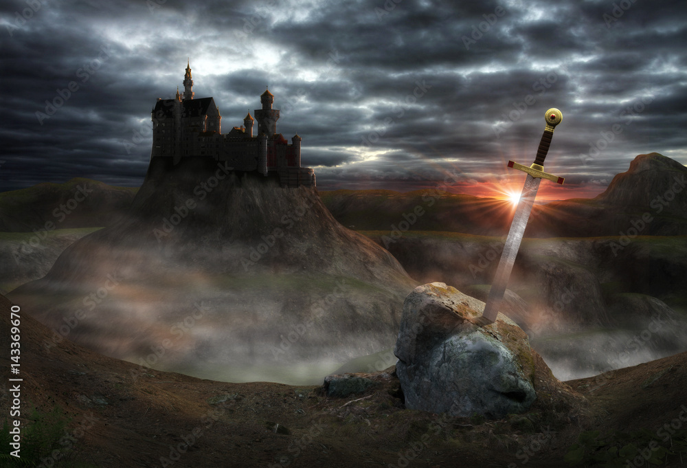 Fototapeta Fantasy Castle Camelot